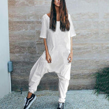 Load image into Gallery viewer, Stylish Casual Loose Short Sleeve Jumpsuits