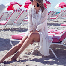 Load image into Gallery viewer, White Bikini Cover Ups Sunscreen Beach Vacation Dress