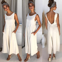 Load image into Gallery viewer, Sexy Backless Lose Wide Leg Jumpsuit