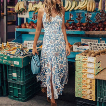 Load image into Gallery viewer, Sexy Fashion Floral Print Sleeveless Maxi Dress