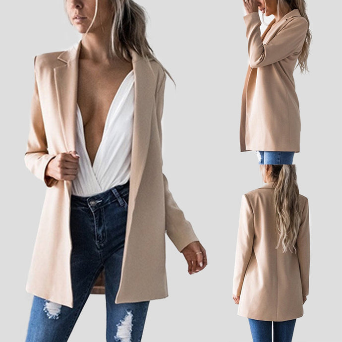 Sexy Long Sleeves Lapel Slim Cardigans