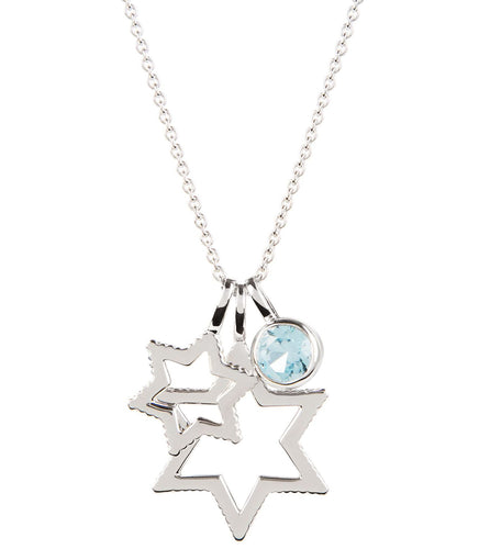 Cosmo Silver Sky Blue Topaz Necklace