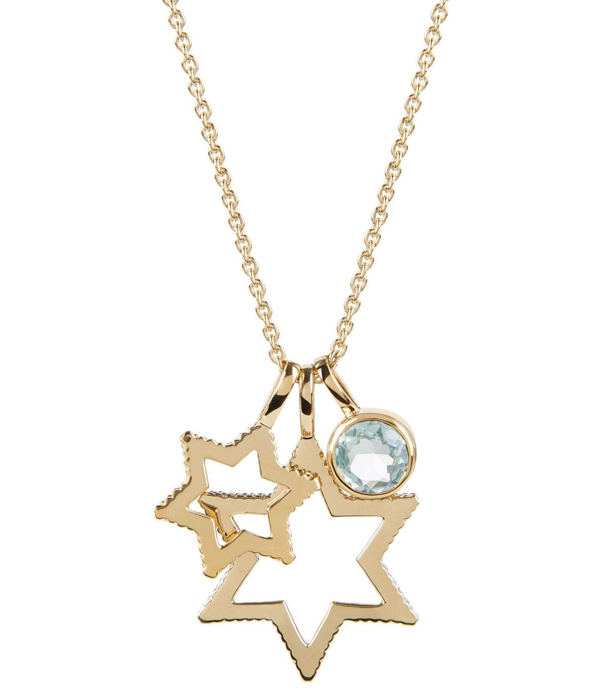 Cosmo Gold Sky Blue Topaz Necklace