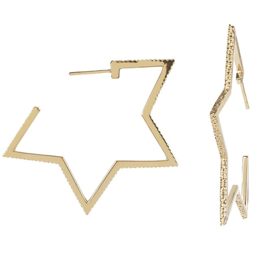 Cosmo Gold Star Hoops