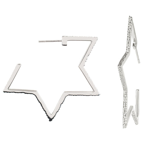 Cosmo Silver Star Hoops