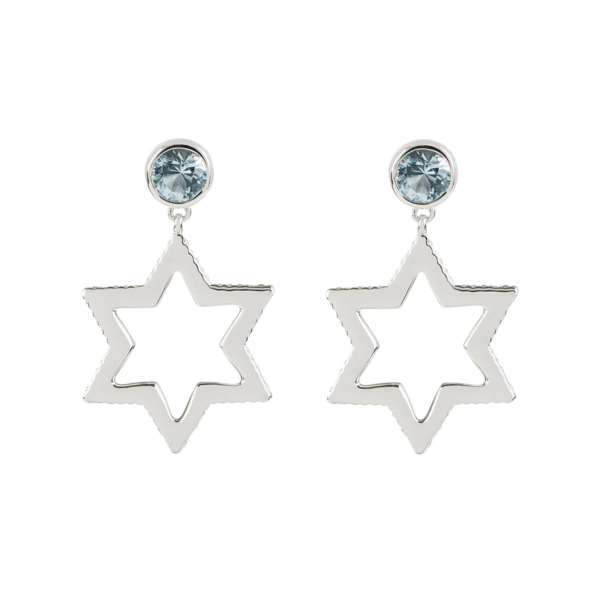 Cosmo Silver Sky Blue Topaz Earrings