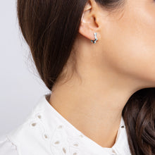 Load image into Gallery viewer, Wanderlust Silver Mini Star Hoops