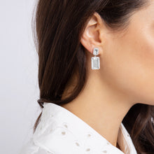 Load image into Gallery viewer, Electra Silver White Topaz Earrings