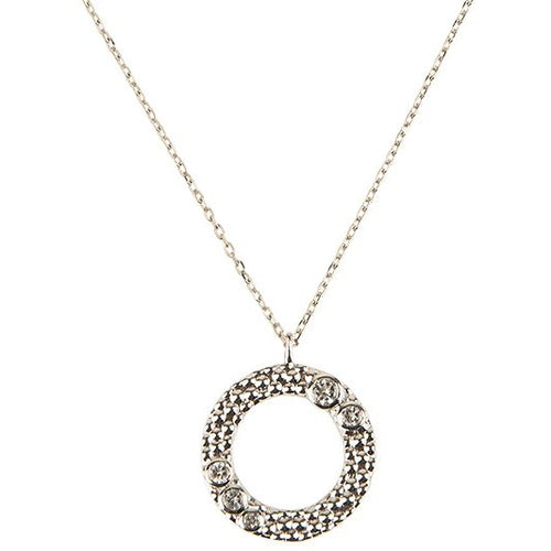 Wanderlust Silver White Topaz Necklace