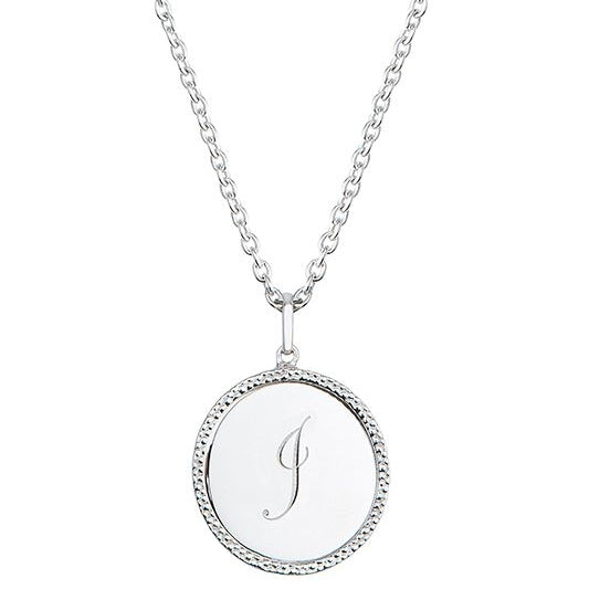 Echo Silver 'J' Initial Necklace