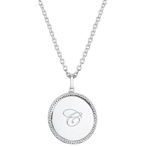 Echo Silver 'C' Initial Necklace