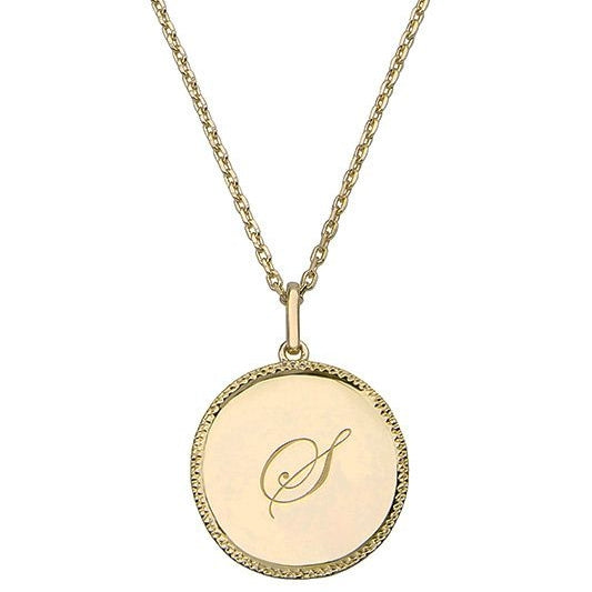 Echo Gold 'S' Initial Necklace