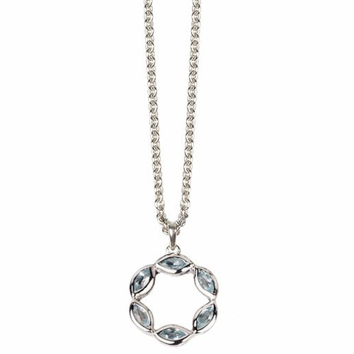 Halcyon Silver Sky Blue Topaz Necklace