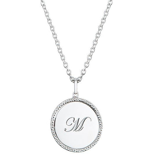 Echo Silver 'M' Initial Necklace