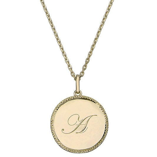 Echo Gold 'A' Initial Necklace