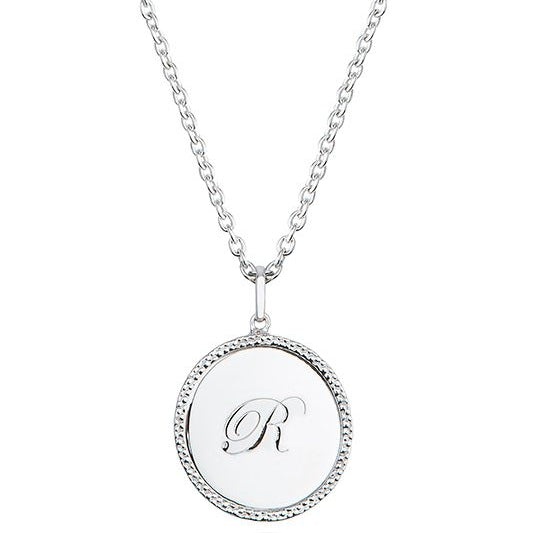Echo Silver 'R' Initial Necklace