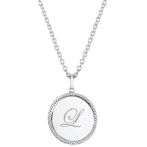 Echo Silver 'L' Initial Necklace