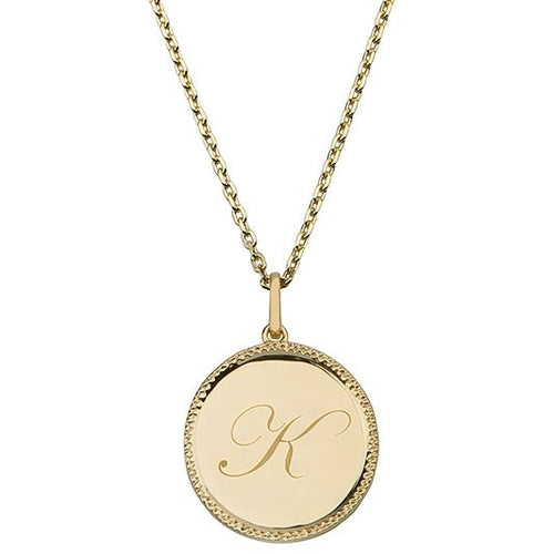 Echo Gold 'K' Initial Necklace