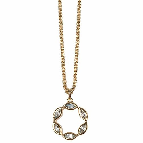 Halcyon Gold Sky Blue Topaz Necklace