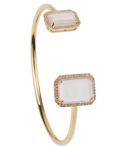 Electra Gold Rose Quartz Bangle