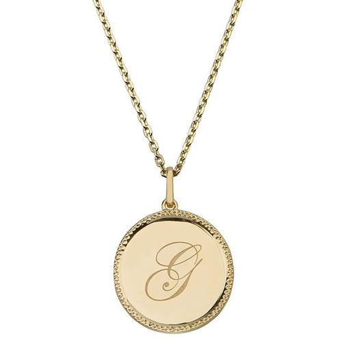 Echo Gold 'G' Initial Necklace