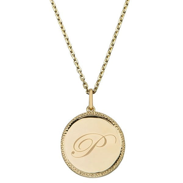 Echo Gold 'P' Initial Necklace