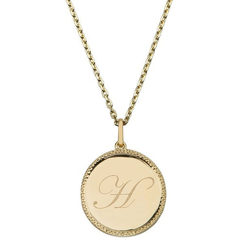 Echo Gold 'H' Initial Necklace