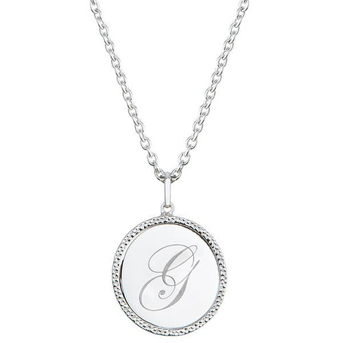 Echo Silver 'G' Initial Necklace
