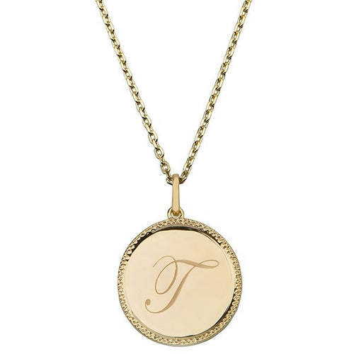 Echo Gold 'T' Initial Necklace