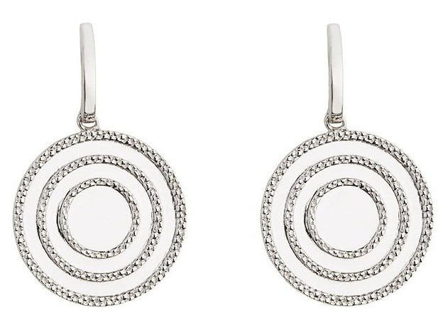 Echo Silver Drop Earrings
