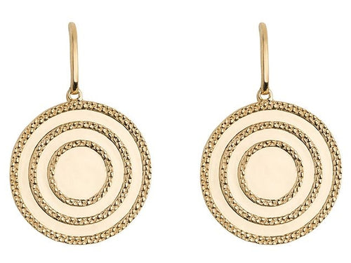 Echo Gold Drop Earrings