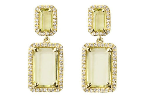 Electra Gold Lemon Quartz Earrings
