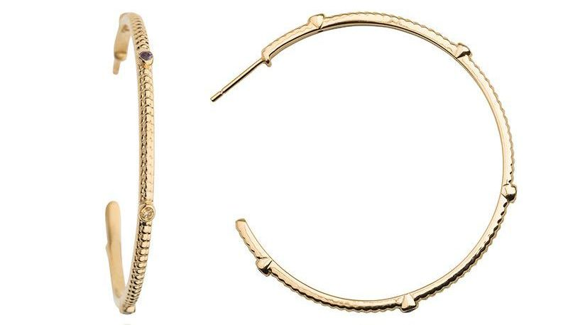 Wanderlust Large Gold Multicolour Hoops