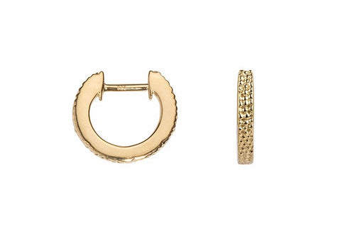 Wanderlust Gold Mini Round Hoops