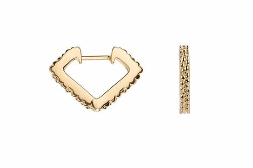Wanderlust Gold Mini Prism Hoops