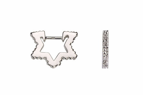 Wanderlust Silver Mini Star Hoops