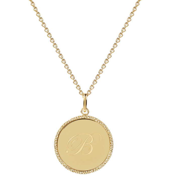 Echo Gold 'B' Initial Necklace