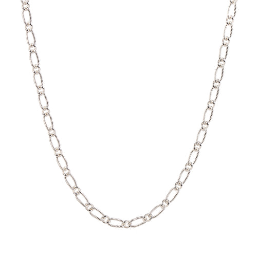 EM Exclusive Silver Figaro Chain