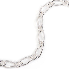Load image into Gallery viewer, EM Exclusive Silver Figaro Chain