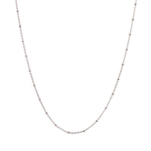 EM Exclusive Silver Beaded Chain