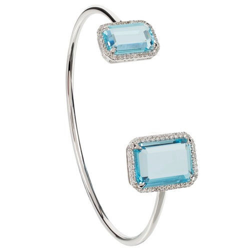 Electra Silver Sky Blue Topaz Bangle