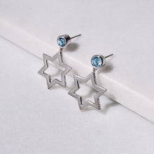 Load image into Gallery viewer, Cosmo Silver Sky Blue Topaz Earrings