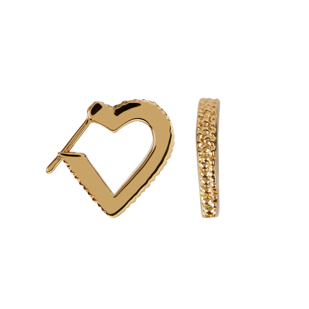 Wanderlust Gold Mini Heart Hoops
