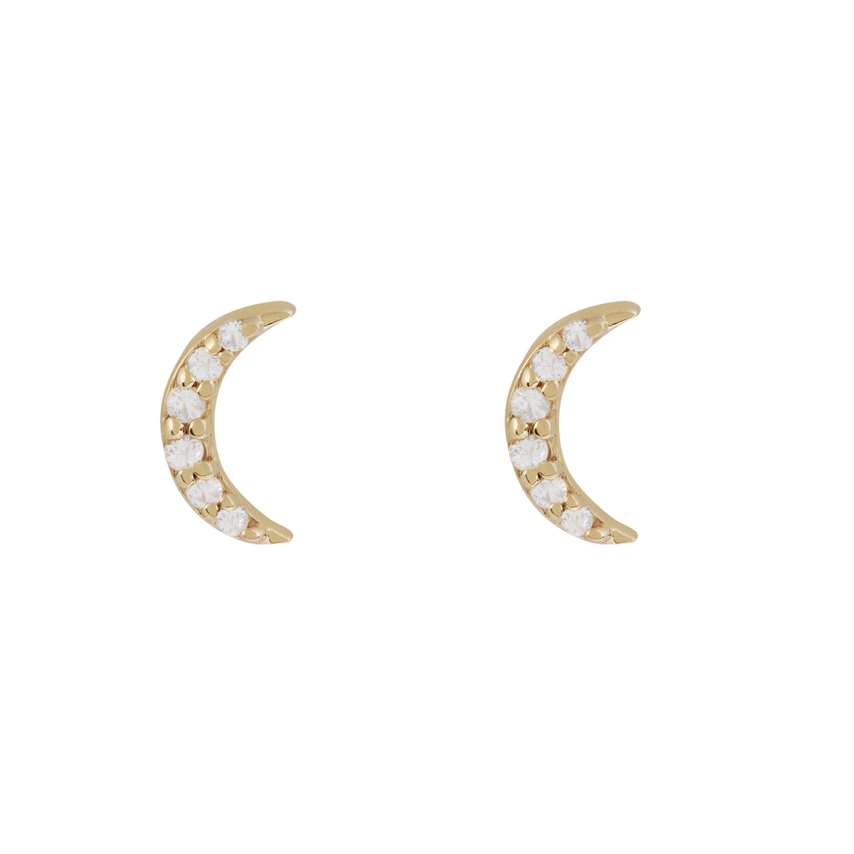 Disco Gold Moon Stud