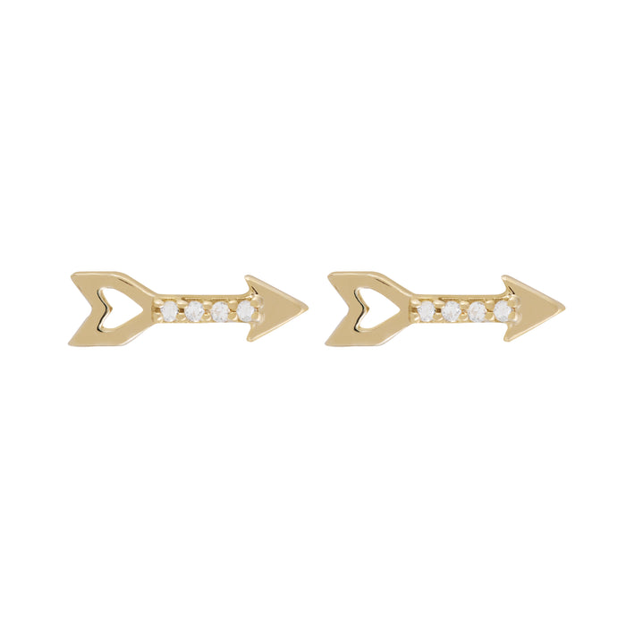 Disco Gold Arrow Stud