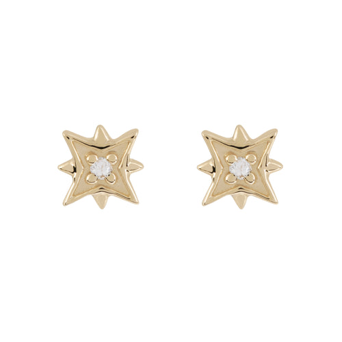 Disco Gold Star Stud
