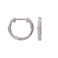 Load image into Gallery viewer, Hera White Gold and Diamond Hoops