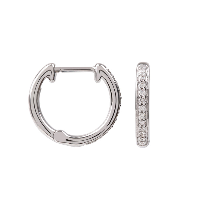 Hera White Gold and Diamond Hoops