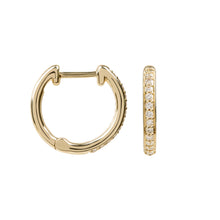 Load image into Gallery viewer, Hera Gold and Diamond Hoops