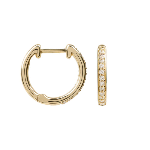 Hera Gold and Diamond Hoops